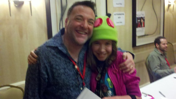Our very own Tallest Sarah meeting Richard Horvitz at InvaderCon 2010!